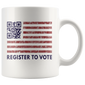 Register To Vote QR Code Mugs American Flag