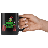 Grinch Drive Jeep Car Funny Christmas Mugs