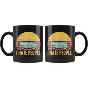 Car Camping I Hate People Mugs