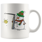 Snowman with a Miller 2 Anesthesia Christmas Mugs