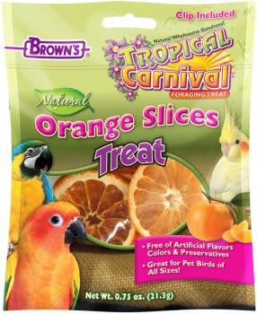 FM Brown's Tropical Carnival Natural Orange Slices Treat