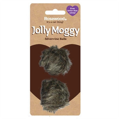 Jolly Moggy Silvervine Furry Balls 2 Pack