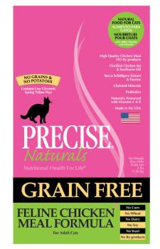 Precise Naturals Grain Free Feline Chicken Meal Formula Dry Cat Food