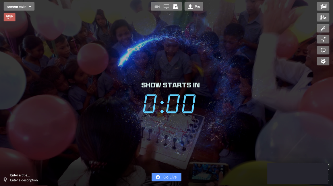 Running Circular Light for LIVE STREAMING Countdown Timer with Ecamm