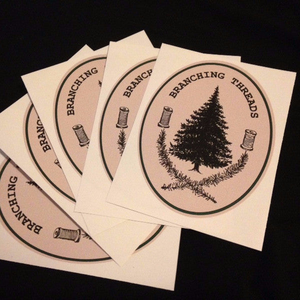 Branching Threads Logo Sticker