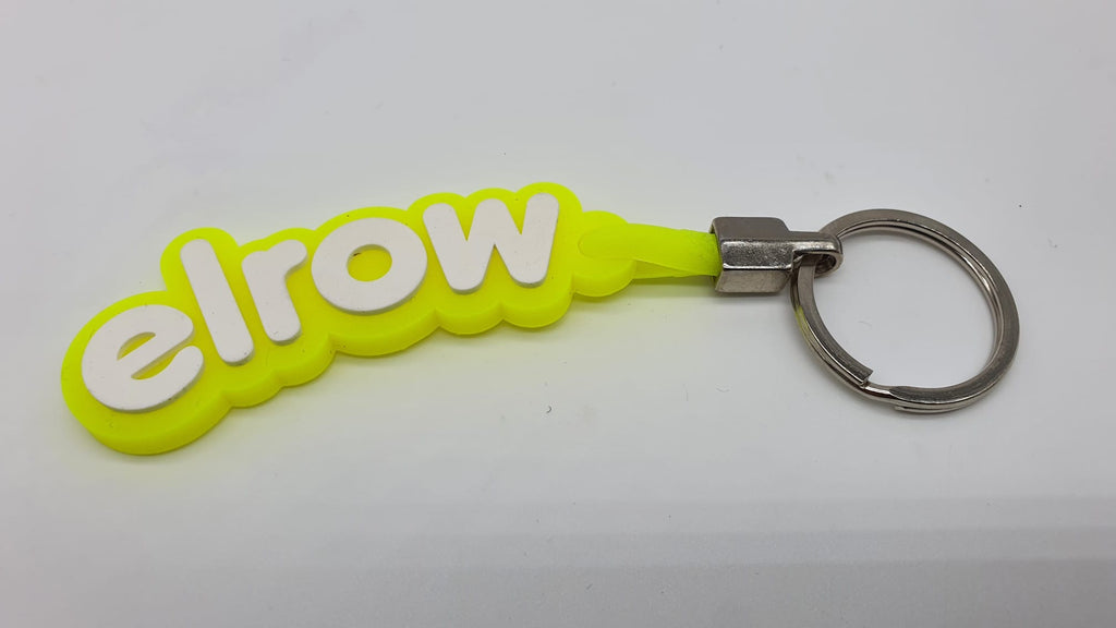 elrow yellow and white keyring