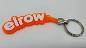 elrow orange and white keyring