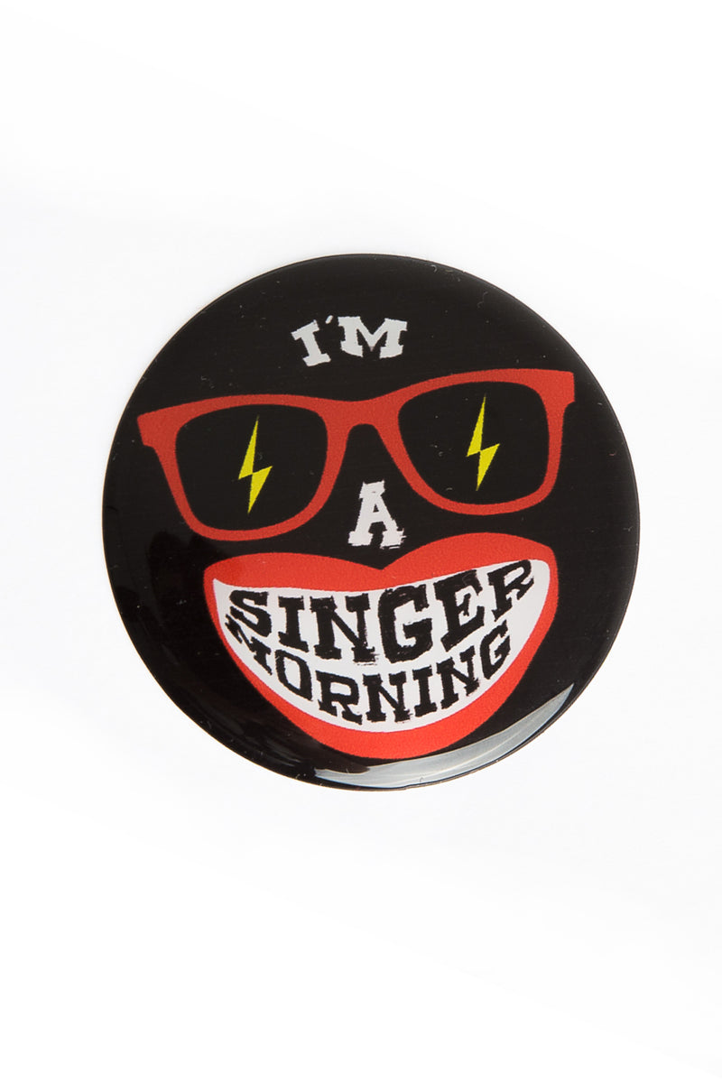 SingerMorning Black Resin sticker