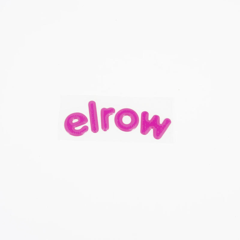 elrow pink letters sticker resin