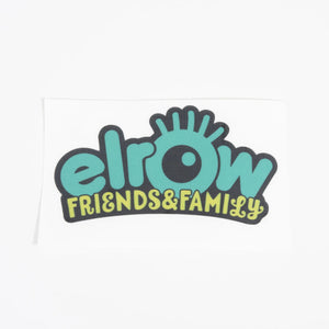 elrow friends&family green sticker