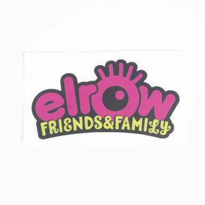 elrow friends&family pink sticker