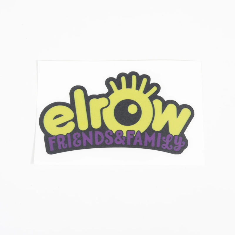 elrow friends&family yellow sticker
