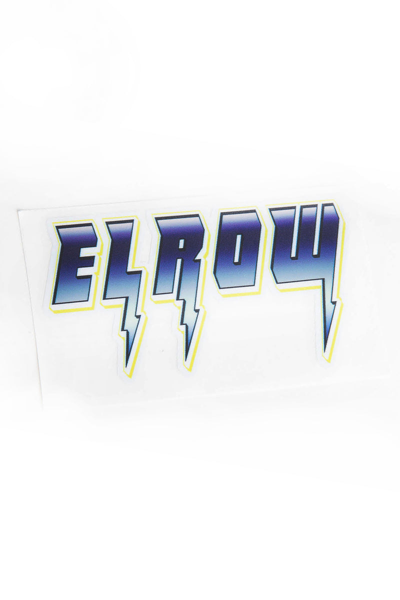 elrow small thunderbolt sticker