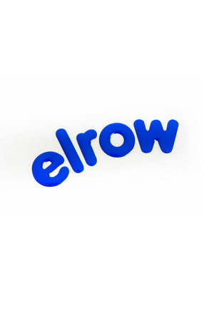 elrow blue letters sticker resin