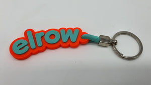 elrow orange and turquoise keyring