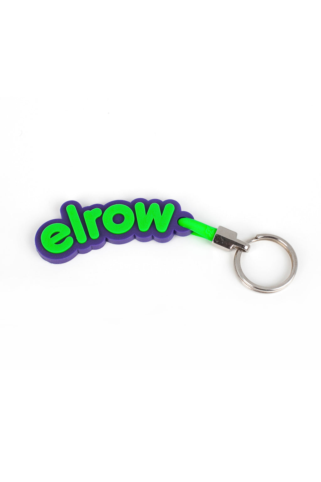 elrow purple and green keyring