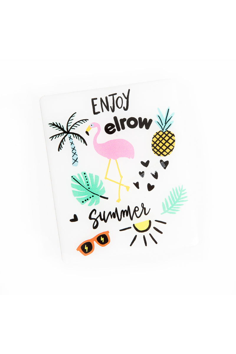 enjoy elrow summer resin sticker