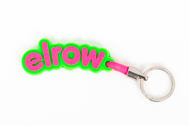 elrow green and pink keyring