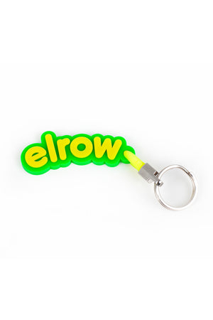 elrow green and yellow keyring