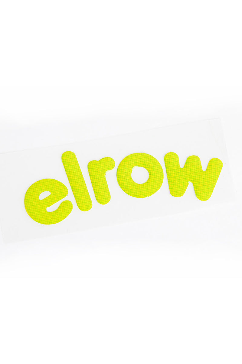 elrow pistacho letters sticker resin