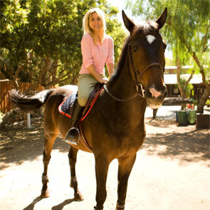 Kaley Cuoco and her horse, Falcon!