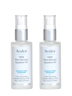 Squalane Oil 2 pack, (2 FL OZ / 60 ml each ) Avalea Skincare