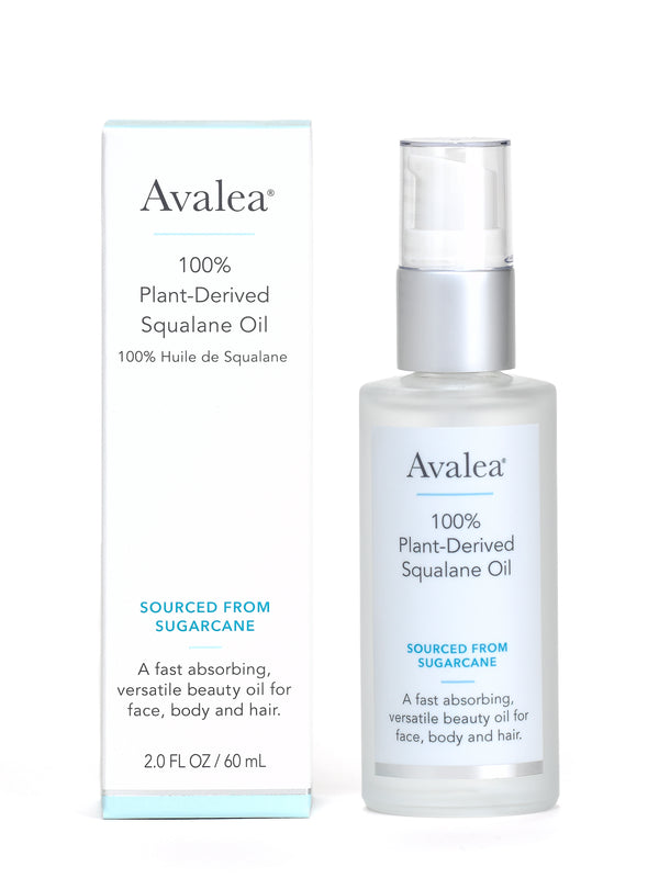 Squalane Oil Moisturizer - 100% Pure & Plant-Derived from Sugarcane - 2 Pack - Avalea Skincare