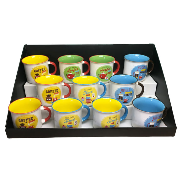 Counter Top Display: Retro Mugs