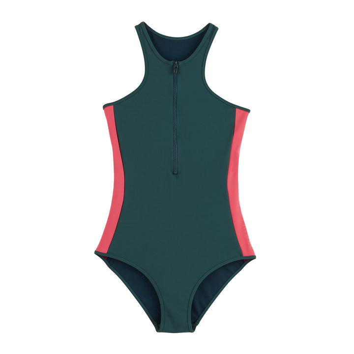 MOLITOR One-piece Super swim in deep green/pink