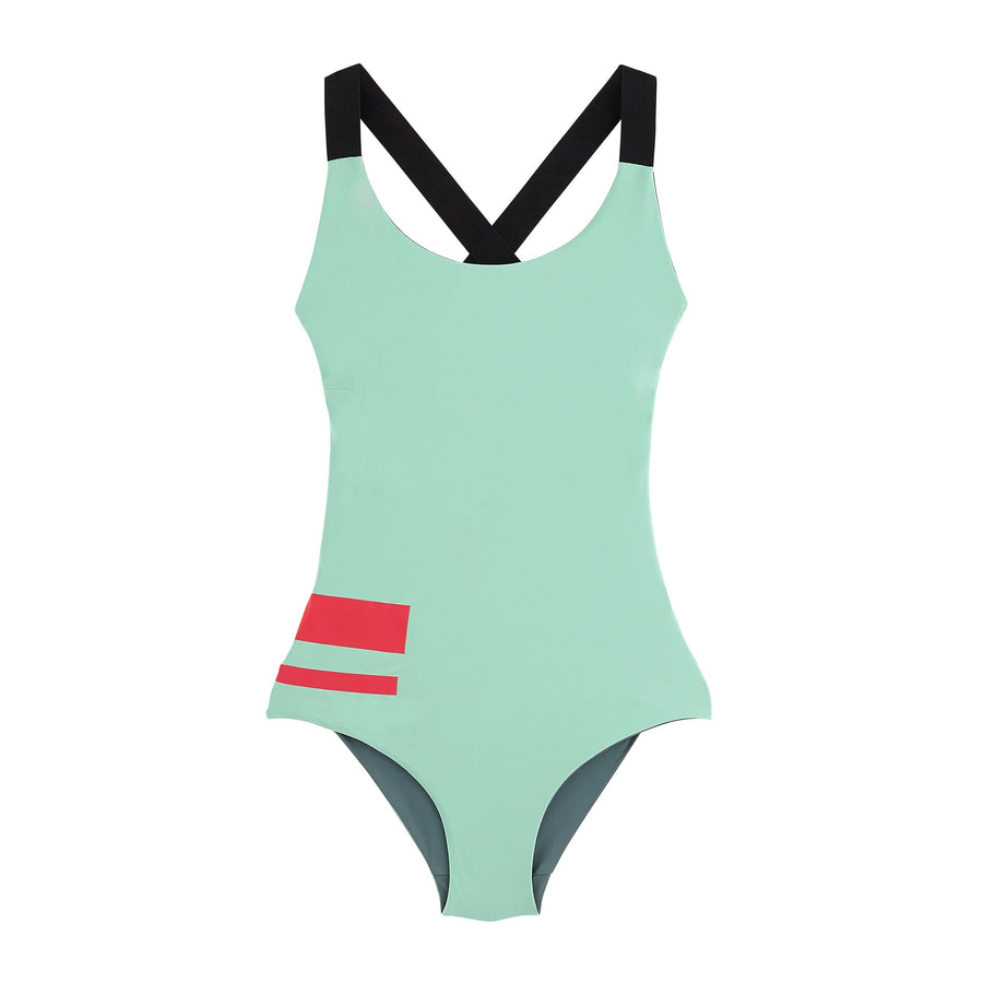 Saint Georges The Reversible One-Piece swim in lake squale
