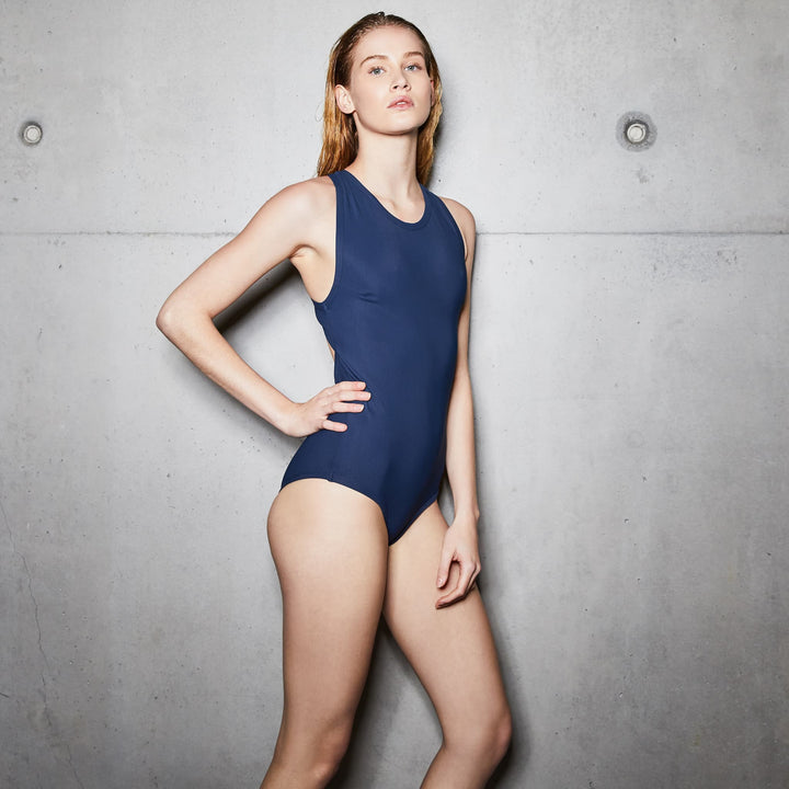 chlore swimwear roubaix la piscine one piece blue piscine swimsuit