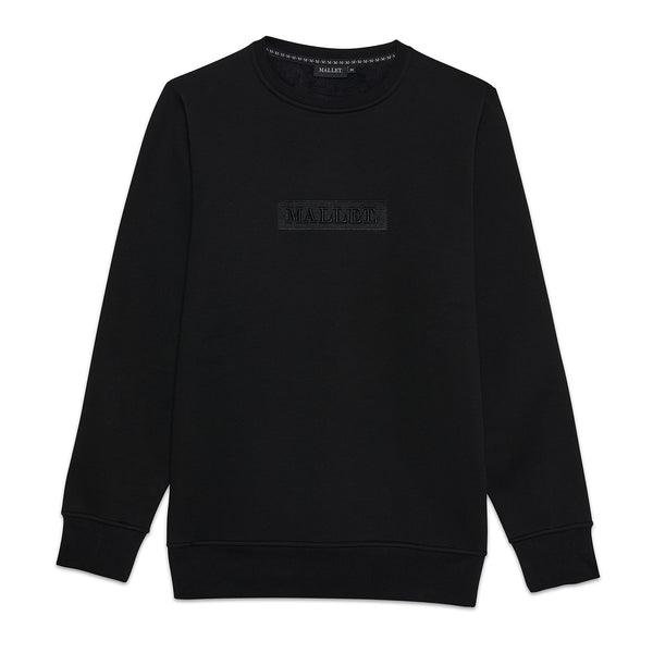 Jasper Box Logo Crew Black