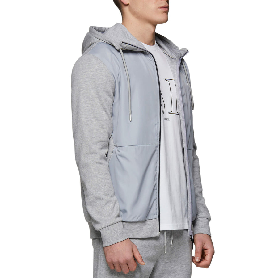 Darien Zip Thru Hood Grey