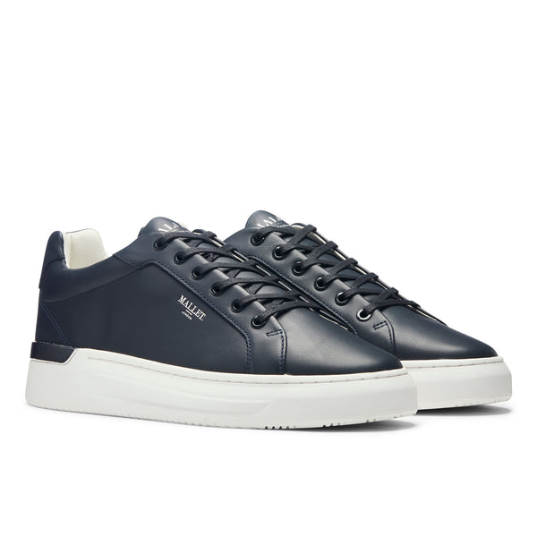 Grafter Navy Leather