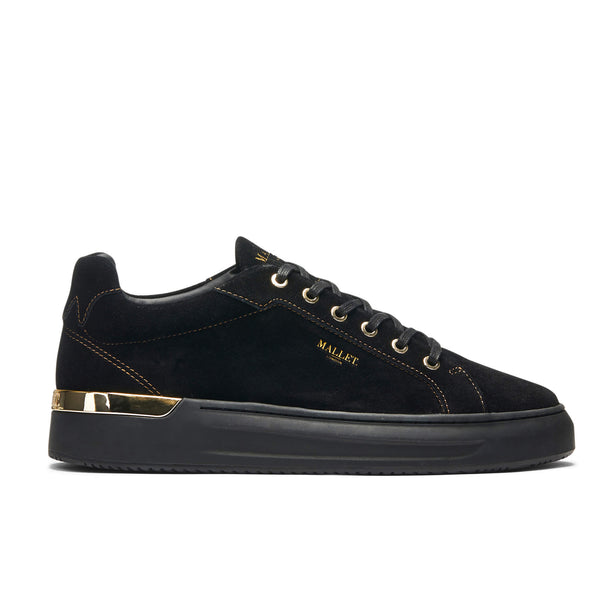 GRFTR Black & Gold Suede