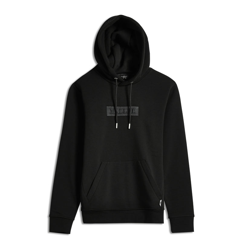 Jasper Box Logo Hood Black