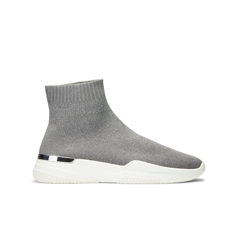Sock Runner Grey Glitter Womens