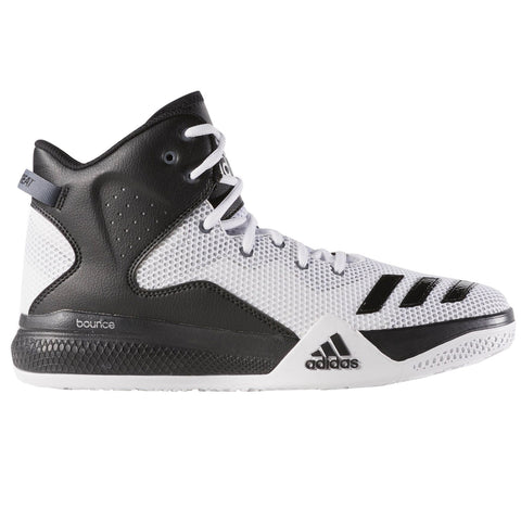 adidas DT Mid Top Basketball Shoes Mens White/Black