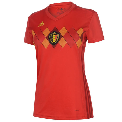 adidas Belgium Home Shirt 2018 Womens Red/Gold