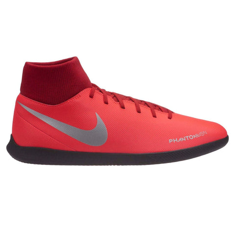 Nike Phantom Vision Club DF Indoor Football Boots Mens Red/Silver
