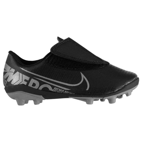 Nike Mercurial Vapor Club s FG Football Boots Child Boys Black/ Grey