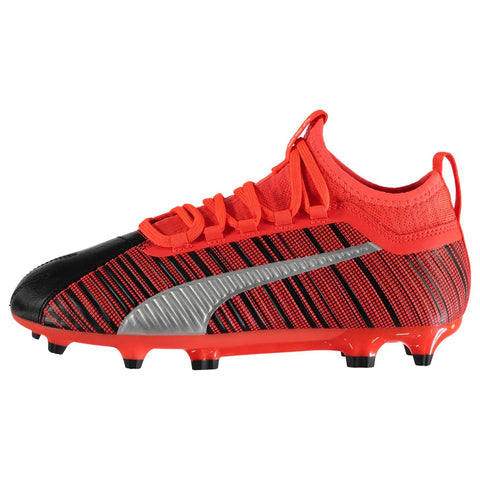 Puma One 5.3 Firm Ground FG Football Boots Juniors Black/Red