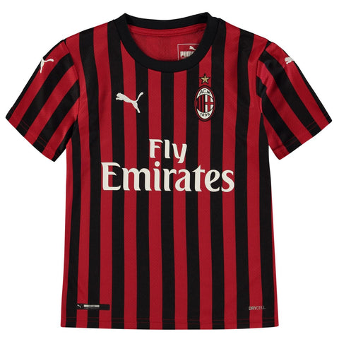 Puma AC Milan Home Shirt 2019 2020 Juniors Red/Black
