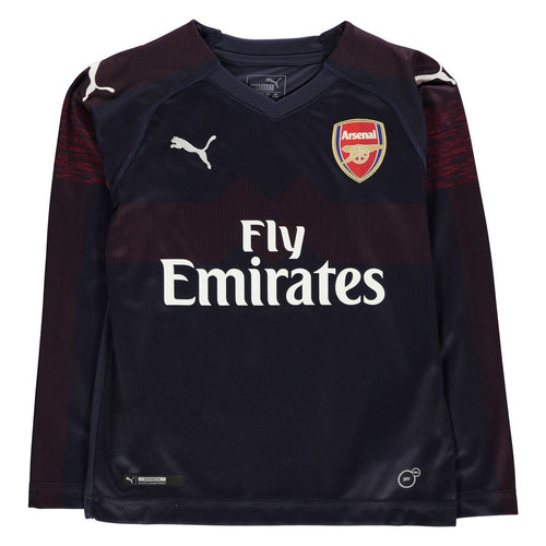 Puma Arsenal Long Sleeve Away Jersey 2018 2019 Juniors Navy