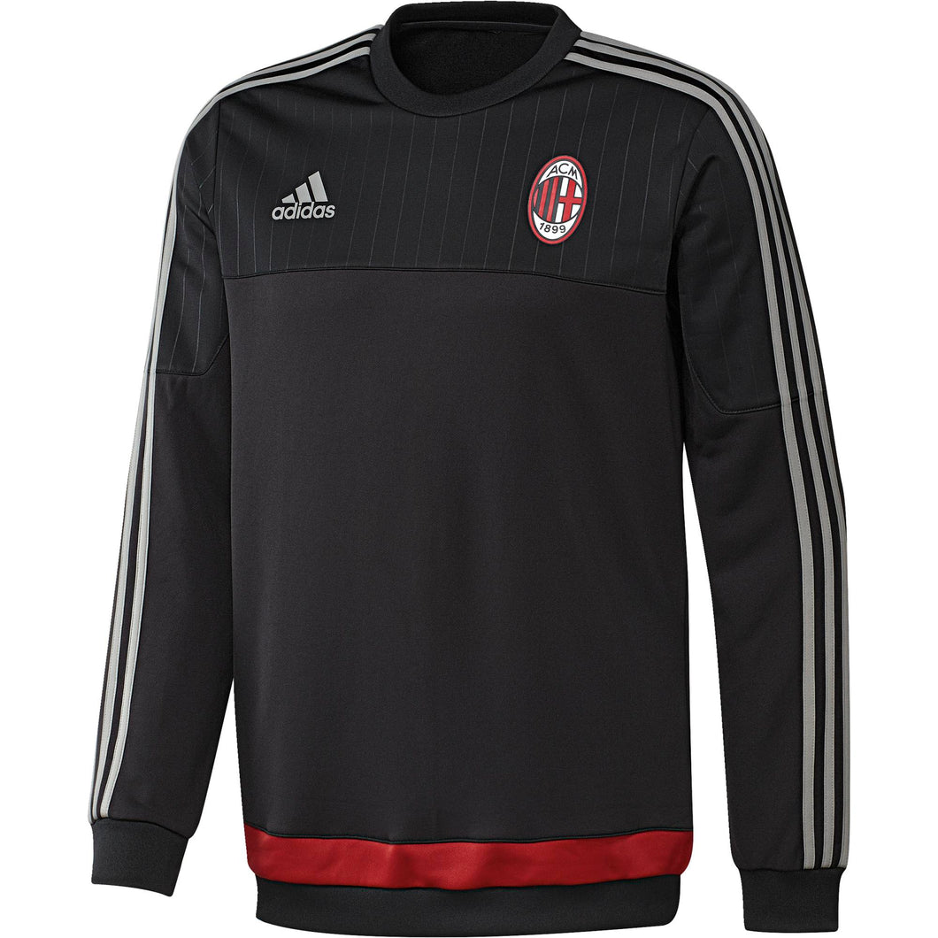 adidas AC Milan Training Top Mens Black/Silver