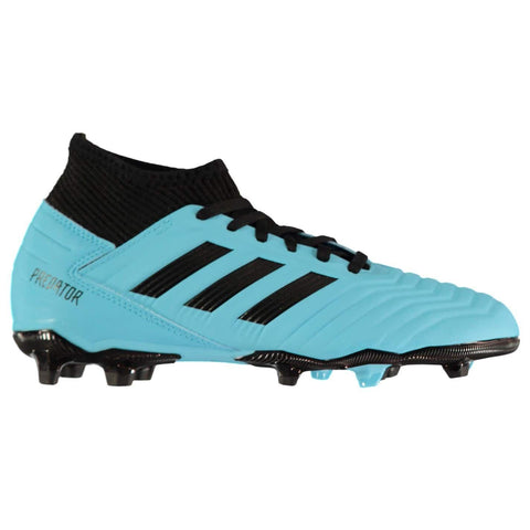 adidas Predator 19.3 FG Football Boots Junior Boys Cyan/Black