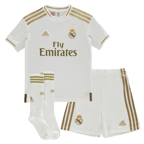 adidas Real Madrid Home Mini Kit 2019 2020 Juniors White