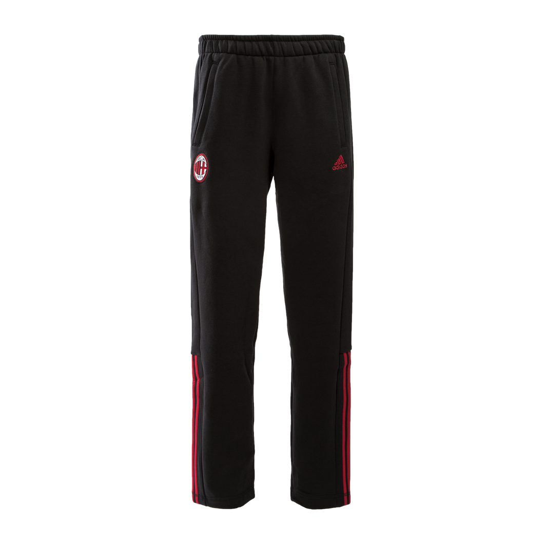 adidas AC Milan 3 Stripe Sweat Pants Mens Black/Rd