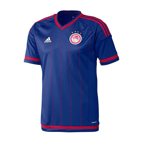 adidas Olympiacos FC Away Jersey 2015 2016 Juniors Blue
