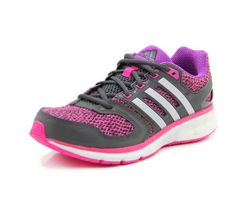 adidas Questar Boost Running Shoes Womens Pink/Grey/Purple